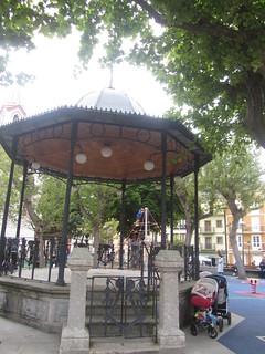Bandstand,     Plaza  de  España,  Ribadeo, Logo,  Galicia, Spain