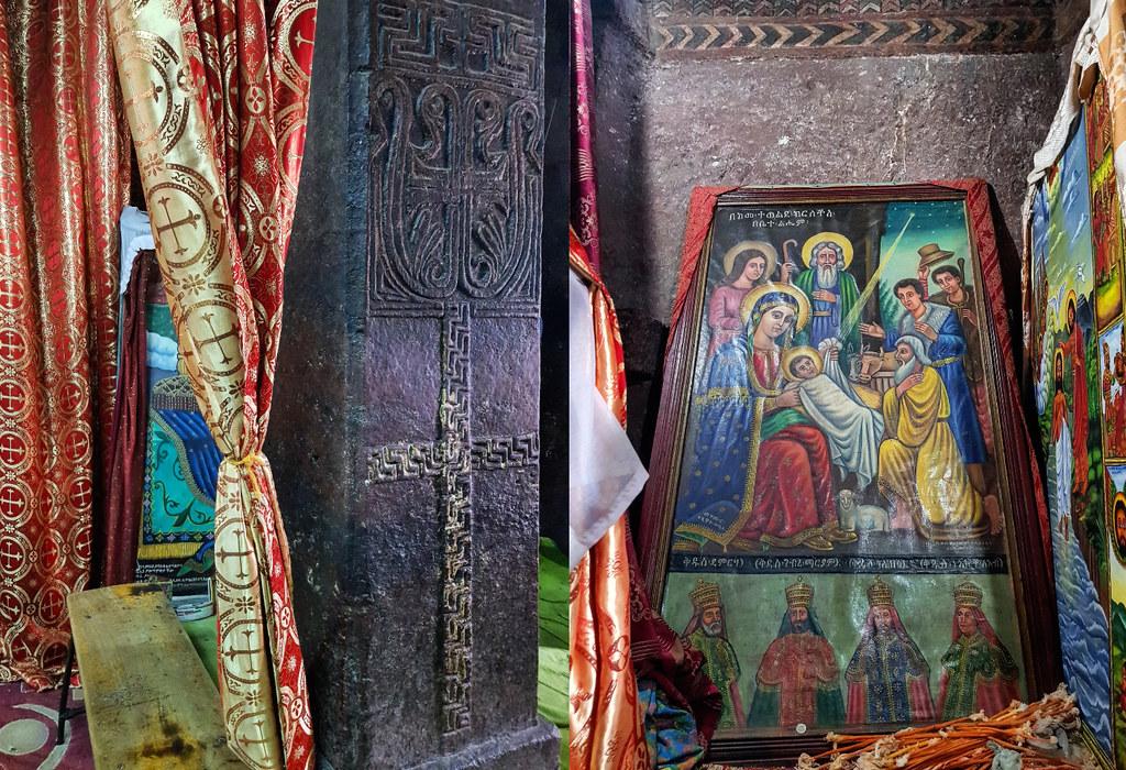 Bet Maryam wnętrza Lalibela, Etiopia