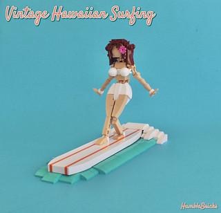 Vintage Hawaiian Surfing
