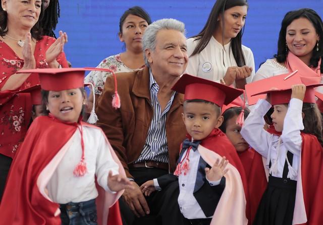 INCORPORACIÓN DE LA PRIMERA PROMOCIÓN DE NIÑOS DEL SERVICIO DE ATENCIÓN FAMILIAR PARA LA PRIMERA INFANCIA. PIFO, 4 DE JULIO DEL 2019