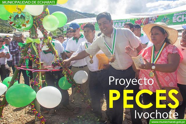 Municipalidad de Echarati inicio proyectos productivos por aniversario de Ivochote