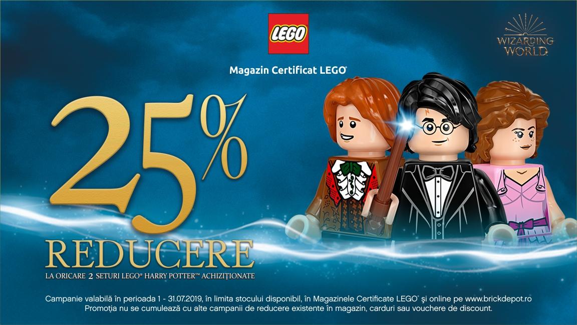 25% reducere la oricare 2 seturi LEGO® Harry Potter