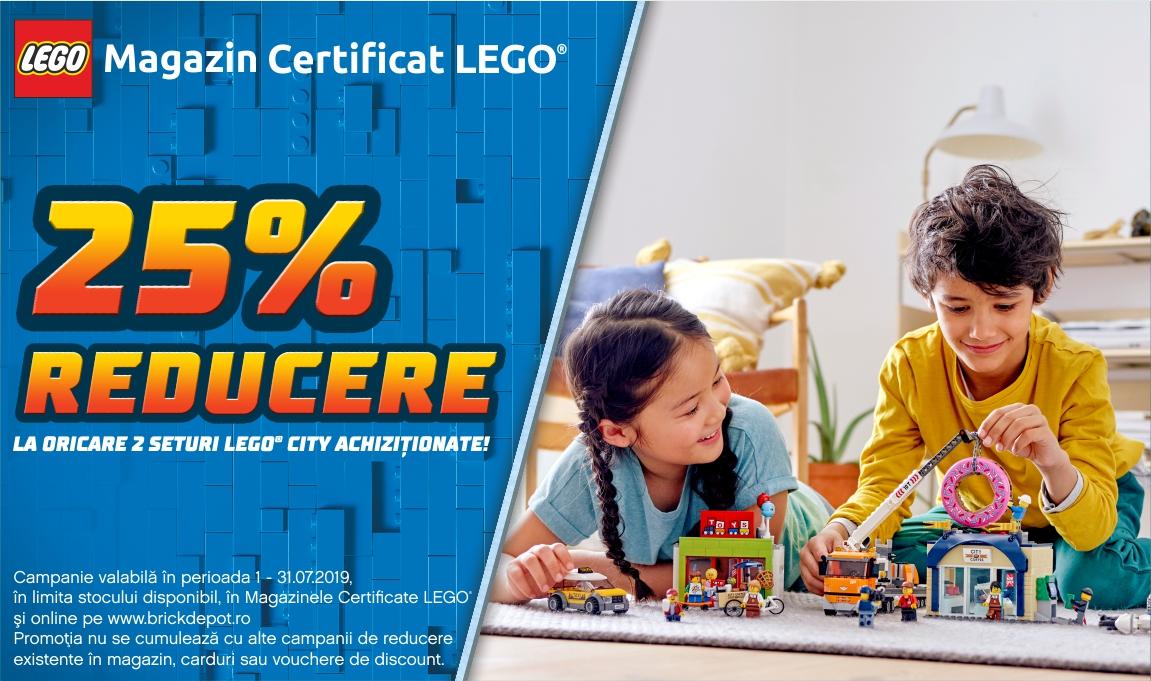 25% reducere la oricare 2 seturi LEGO® City