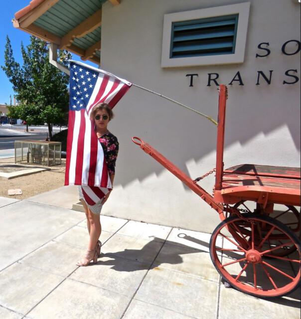 Debbie & Stars & Stripes at Tucson RR Museum - September 14th, 2017