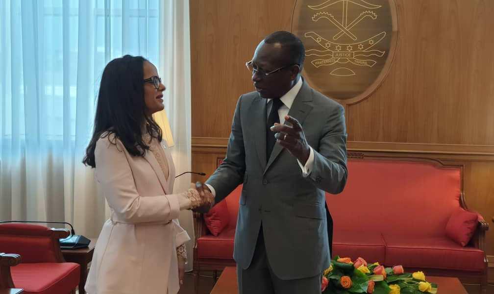 El Presidente de la República de Benin Patrice Talon recibe cartas credenciales de la Embajadora de la República Bolivariana de Venezuela Belén T. Orsini Pic