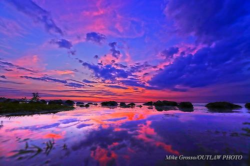 lempsunrise7419 sigma1224f4art predawncolour predawn morningcolors reflections bluesky water greatlakestate puremichigan lakeeriemetropark lakeerie michiganoutdoors outdoorphotography michiganwetlands