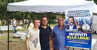 Enzo Dell'Erba con il segretario cittadino e il rappresentante dei giovani