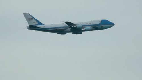 Air Force One* over Arlington, VA