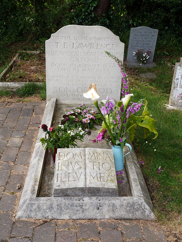 The grave of T H Lawrence