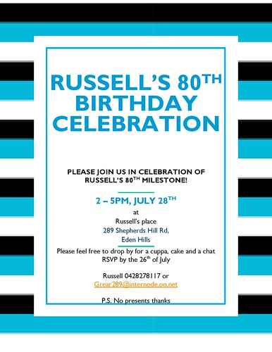 Russell's 80th Birthday