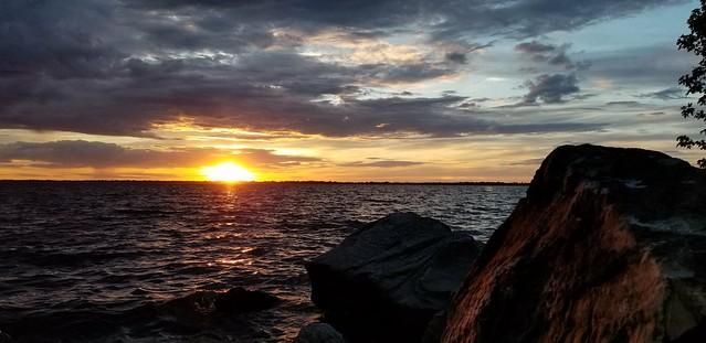 coucher de soleil sur la baie missisquoi