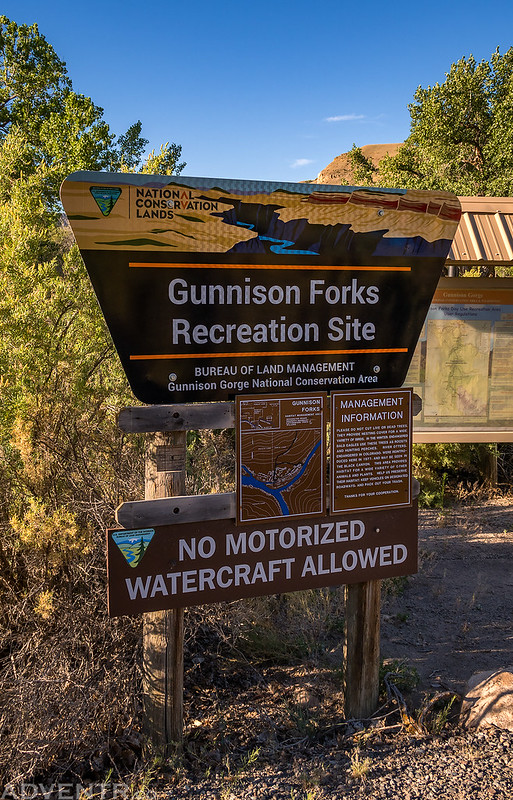 Gunnison Forks Recreation Site Sign