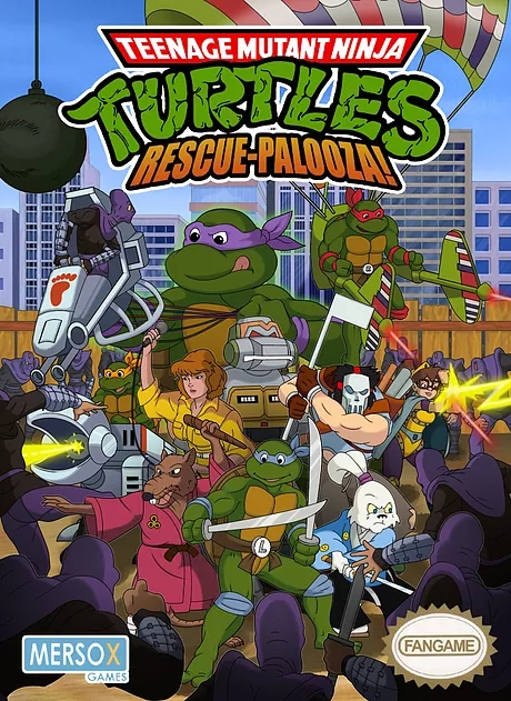 Teenage Mutant Ninja Turtles Rescue Palooza Poster