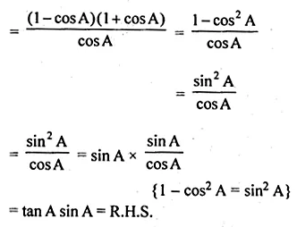 ML Aggarwal Class 10 Solutions for ICSE Maths Chapter 18 Trigonometric Identities Ex 18 Q13.1