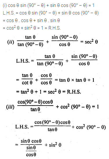 ML Aggarwal Class 10 Solutions for ICSE Maths Chapter 18 Trigonometric Identities Ex 18 Q11
