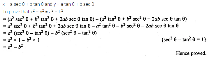 ML Aggarwal Class 10 Solutions for ICSE Maths Chapter 18 Trigonometric Identities Ex 18 Q34