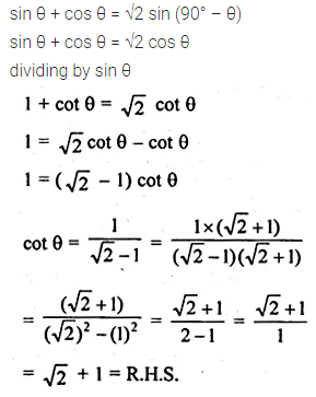 ML Aggarwal Class 10 Solutions for ICSE Maths Chapter 18 Trigonometric Identities Ex 18 Q31