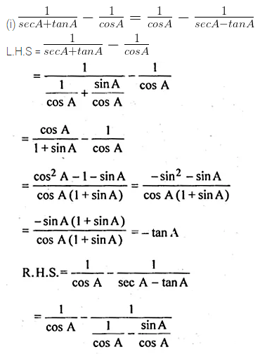 ML Aggarwal Class 10 Solutions for ICSE Maths Chapter 18 Trigonometric Identities Ex 18 Q30