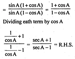 ML Aggarwal Class 10 Solutions for ICSE Maths Chapter 18 Trigonometric Identities Ex 18 Q30.3