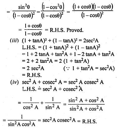 ML Aggarwal Class 10 Solutions for ICSE Maths Chapter 18 Trigonometric Identities Ex 18 Q16.1