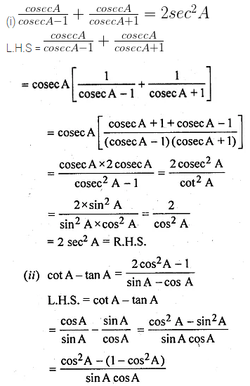 ML Aggarwal Class 10 Solutions for ICSE Maths Chapter 18 Trigonometric Identities Ex 18 Q18