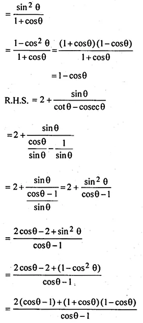 ML Aggarwal Class 10 Solutions for ICSE Maths Chapter 18 Trigonometric Identities Ex 18 Q27.2