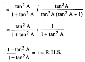 ML Aggarwal Class 10 Solutions for ICSE Maths Chapter 18 Trigonometric Identities Ex 18 Q29.1
