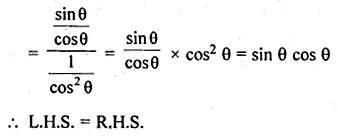 ML Aggarwal Class 10 Solutions for ICSE Maths Chapter 18 Trigonometric Identities Ex 18 Q11.2