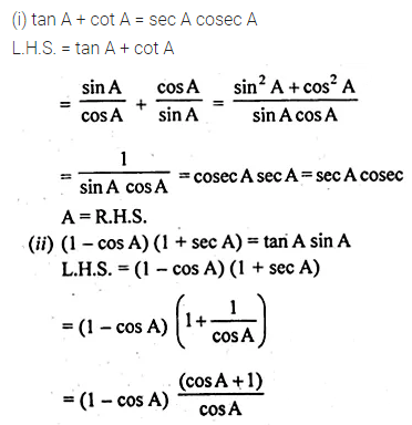ML Aggarwal Class 10 Solutions for ICSE Maths Chapter 18 Trigonometric Identities Ex 18 Q13