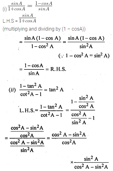 ML Aggarwal Class 10 Solutions for ICSE Maths Chapter 18 Trigonometric Identities Ex 18 Q15