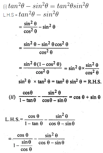 ML Aggarwal Class 10 Solutions for ICSE Maths Chapter 18 Trigonometric Identities Ex 18 Q19