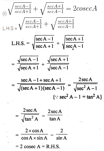 ML Aggarwal Class 10 Solutions for ICSE Maths Chapter 18 Trigonometric Identities Ex 18 Q24