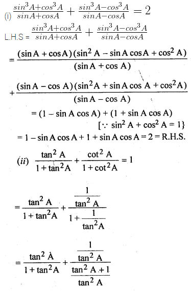 ML Aggarwal Class 10 Solutions for ICSE Maths Chapter 18 Trigonometric Identities Ex 18 Q29