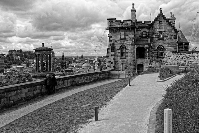 Edinburgh / Calton Hill /  Old Observatory House / Dugald Stewart Monument