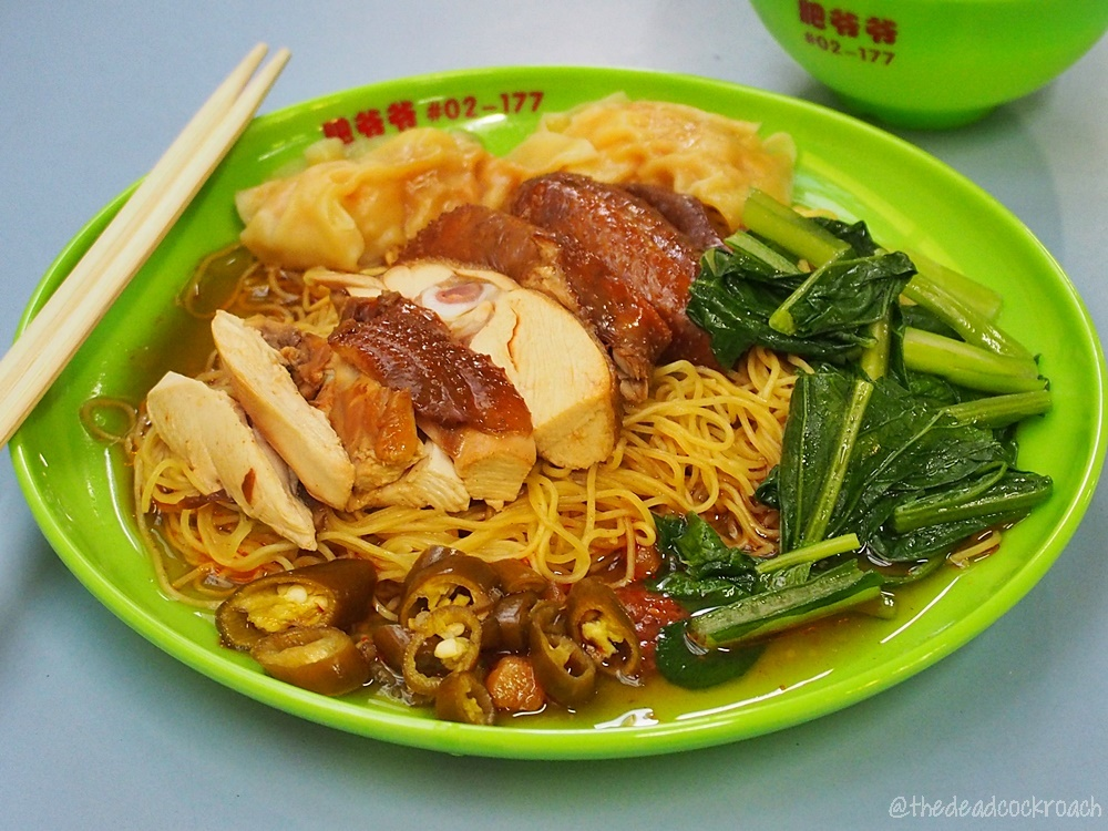 chinatown complex, fei ye ye food tradition, food, food review, review, singapore, soy sauce chicken, sui kow, 水餃, 水饺, 肥爷爷传统美食, 豉油雞, 豉油鸡, 油鸡面,油雞麵