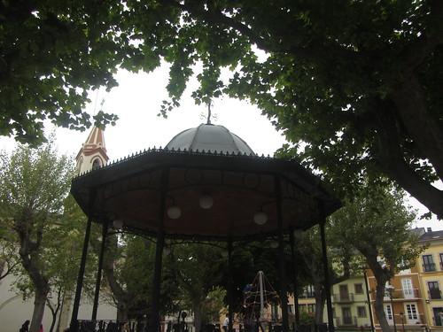 Bandstand,  Plaza   de   España,  Ribadeo,  Lugo,  Galicia,  Spain
