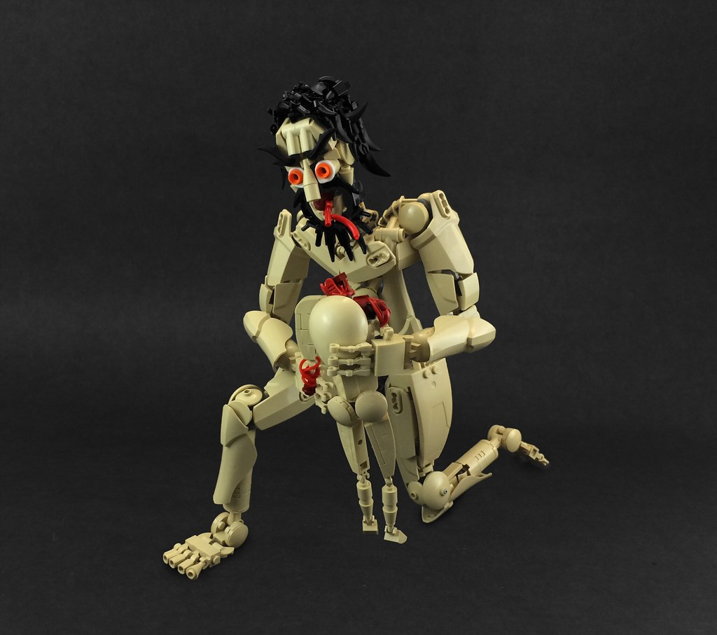 Saturn Devouring His Son (custom built Lego model)