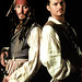 Johnny Depp and Orlando Bloom in Pirates of the Caribbean - At World's End (2007)