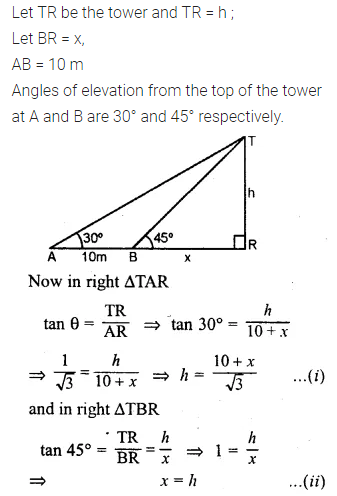 ML Aggarwal Class 10 Solutions for ICSE Maths Chapter 20 Heights and Distances Ex 20 Q37.1