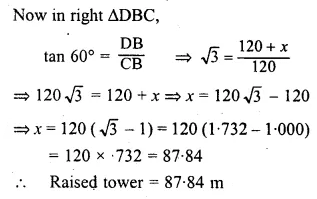 ML Aggarwal Class 10 Solutions for ICSE Maths Chapter 20 Heights and Distances Ex 20 Q36.1