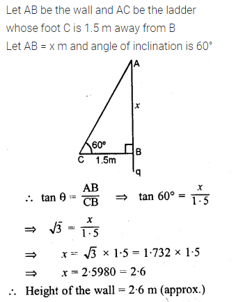 ML Aggarwal Class 10 Solutions for ICSE Maths Chapter 20 Heights and Distances Ex 20 Q3