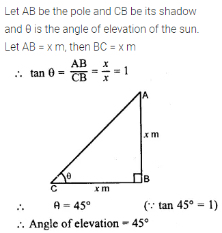 ML Aggarwal Class 10 Solutions for ICSE Maths Chapter 20 Heights and Distances Ex 20 Q4
