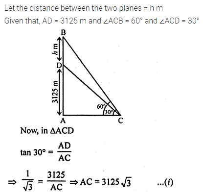 ML Aggarwal Class 10 Solutions for ICSE Maths Chapter 20 Heights and Distances Ex 20 Q16