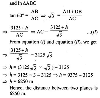ML Aggarwal Class 10 Solutions for ICSE Maths Chapter 20 Heights and Distances Ex 20 Q16.1