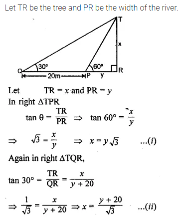 ML Aggarwal Class 10 Solutions for ICSE Maths Chapter 20 Heights and Distances Ex 20 Q17
