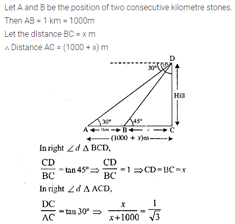 ML Aggarwal Class 10 Solutions for ICSE Maths Chapter 20 Heights and Distances Ex 20 Q19