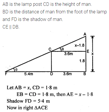 ML Aggarwal Class 10 Solutions for ICSE Maths Chapter 20 Heights and Distances Ex 20 Q31