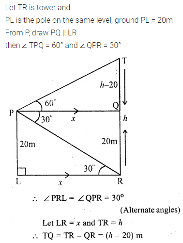 ML Aggarwal Class 10 Solutions for ICSE Maths Chapter 20 Heights and Distances Ex 20 Q34