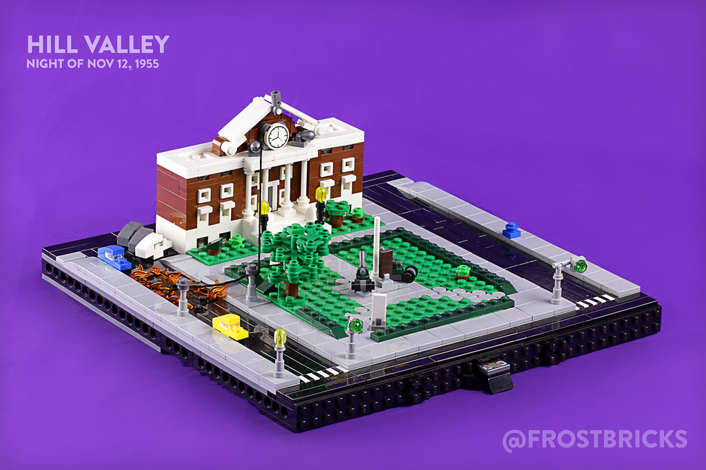 Hill Valley, 1955 (custom built Lego model)