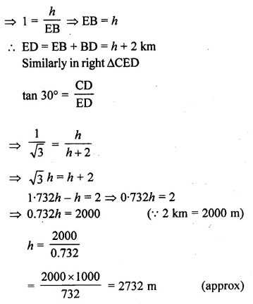 ML Aggarwal Class 10 Solutions for ICSE Maths Chapter 20 Heights and Distances Ex 20 Q38.1